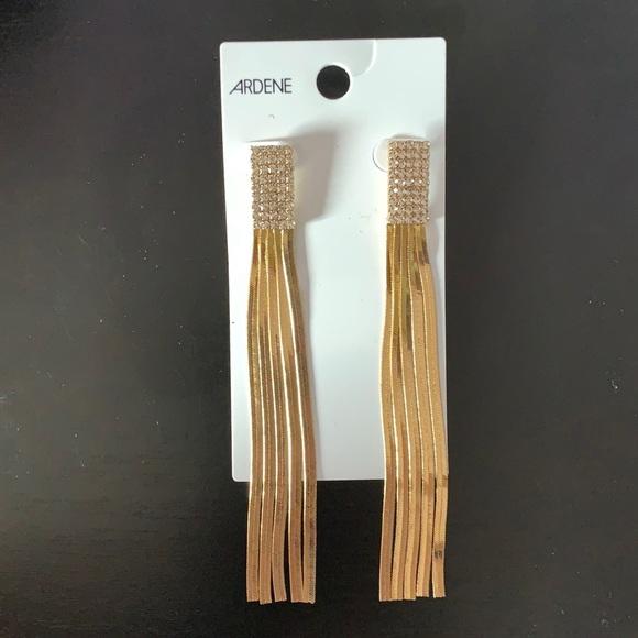 Gold dangly earrings